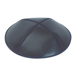 Navy Leather Yarmulkes in Bulk
