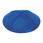 Royal Blue Leather Yarmulkes in Bulk